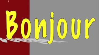Learning french for children ( song Bonjour et merci )
