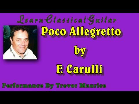 Beginner Guitar Lesson Poco Allegretto by Ferdinando Carulli for Classical Guitar