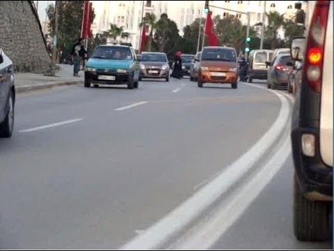 أعتداء على أمرأة بشارع الجيش الملكي  طنجة 02 /02/  tanger 2014