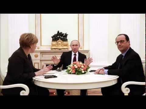 Merkel in US as potential policy split on Ukraine looms