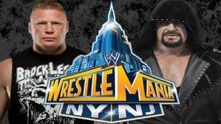WWE Wrestlemania 29: Brock Lesnar vs The Undertaker?