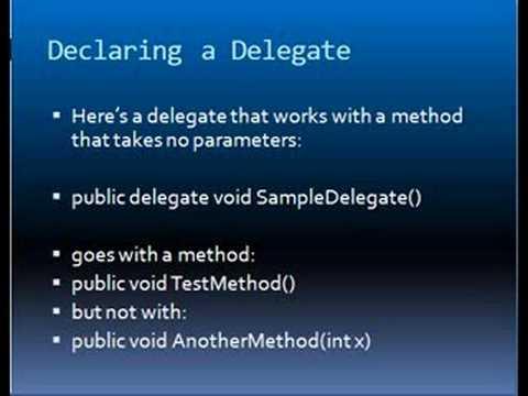 Delegates In C Sharp. c sharp Delegates Views: 4915. By: learningdom