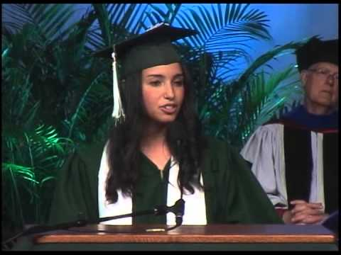 Binghamton University Commencement 2013 - Jessie Rubin - Undergraduate Student Speaker