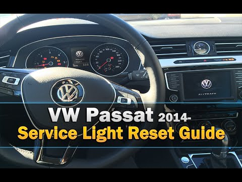 VW Passat Service Light  Reset 2014 2015 2016