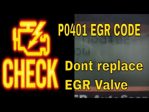 How to fix the P0401 EGR code