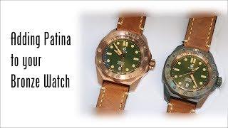 Adding Patina to a Bronze Watch (w BOLDR Oddysey Bronzegreen)