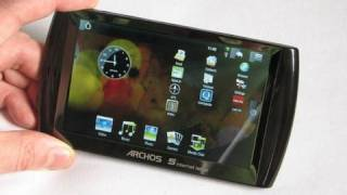 Archos 5 Internet Tablet (Android) unboxing, switch-on and overview.