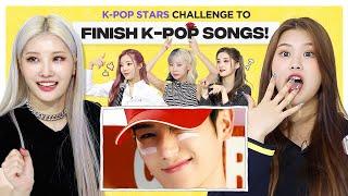 Can Kpop Group finish the lyrics of NCT, TBZ, (G)I-DLE, BLACKPINK & TWICE? l FLC