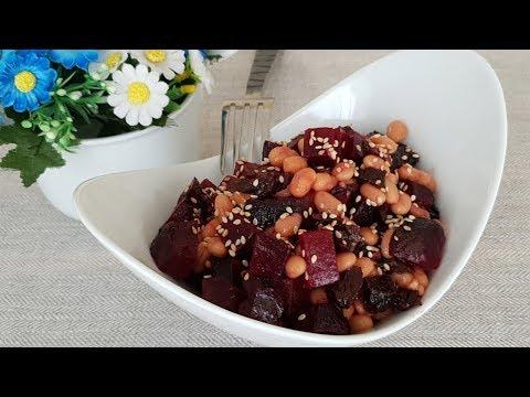 Вкус удовольствия!!! Салат из свеклы с фасолью и черносливом Рецепты салатов.