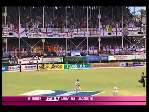Brian Lara World Record 400 Not Out
