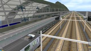 OpenBve mtr tung chung line k train arrived at sunnybay