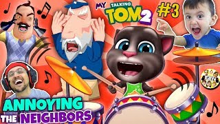 MY TALKING TOM 2 Annoys the Neighbors! (FGTEEV Boys)