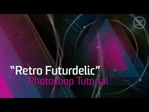 "Photoshop Tutorial: ""Retro Futurdelic"" Space Abstract Design"