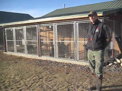 Cottonwood hunt club kennel tour by ted hoff youtube for Dog breeding kennel design