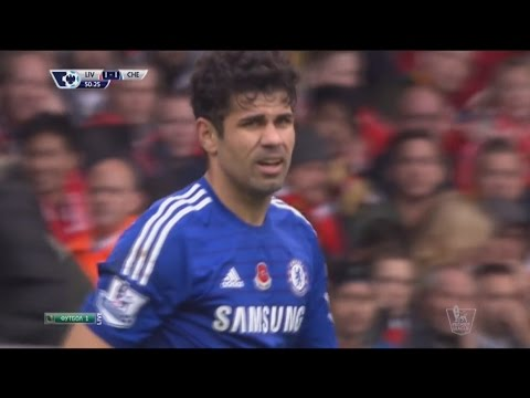 Diego Costa vs Liverpool (Away) ● Individual Highlights (08.11.2014) HD