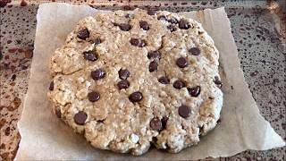 Giant Vegan Chocolate Chip Oatmeal Cookie - For One!