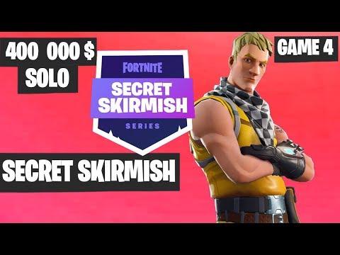 Fortnite Secret Skirmish SOLO Game 4 Highlights [Day 2] Fortnite Tournament 2019