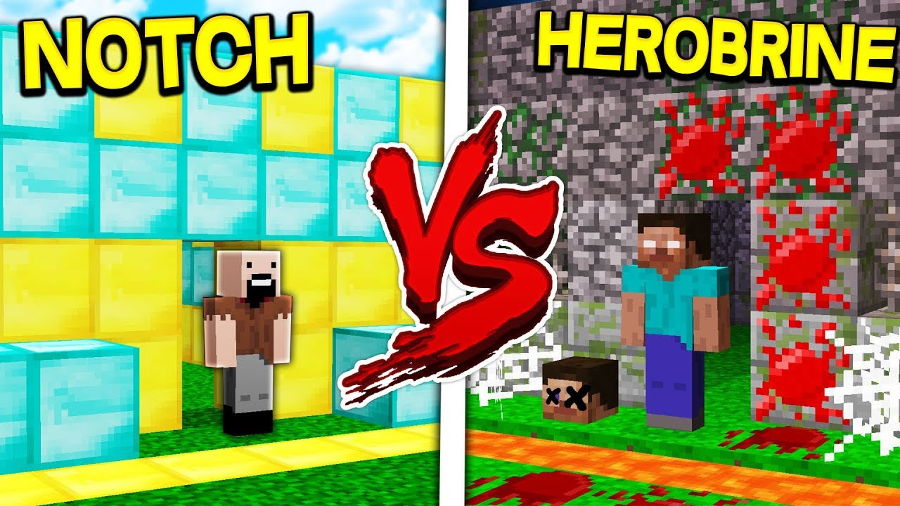NOTCH HOUSE VS HEROBRINE HOUSE! - MINECRAFT