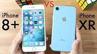 iPHONE XR Vs iPHONE 8 PLUS! (Should You Upgrade?) (Speed Comparison) (Review)