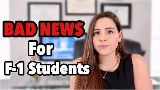 BAD NEWS: F-1 and M-1 Students Must Leave the United States if Taking Online Classes | COVID-19