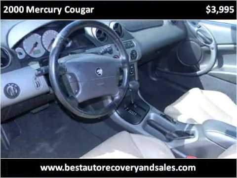 2000 Mercury Cougar Used Cars Seattle WA
