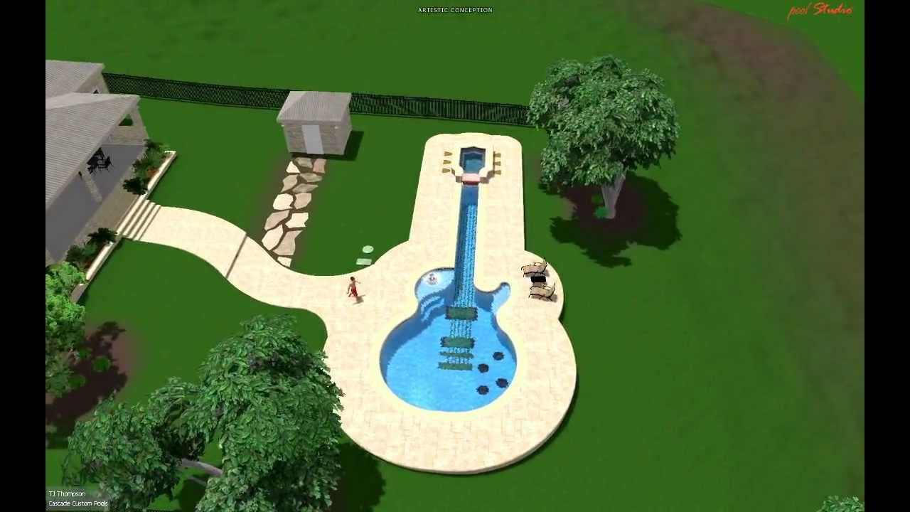 pool design by cascade custom pools the guitar pool