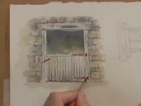 Watercolor Painting Lesson Wood Metal Amp Rust Youtube