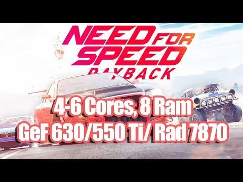 Need For Speed Payback на слабом ПК (4-6 Cores, 8 Ram, GeForce 630/550 Ti/ Radeon 7870)