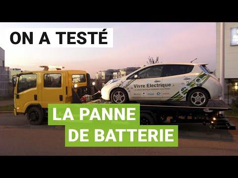 Test de la «panne sèche» de batterie avec une voiture électrique