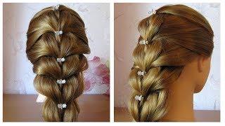 Tuto coiffure simple cheveux mi long/long 💗 Tresse facile et rapide à faire soi même