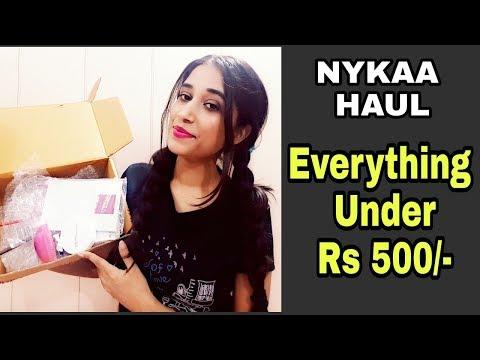 Under Rs 500 Nykaa Haul/Affordable Nykaa Beauty Haul/Vega,Maybelline affordable haul in Hindi/Nykaa