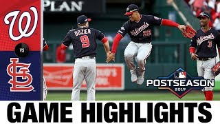 Adam Eaton, Max Scherzer lift Nationals to 2-0 NLCS lead | Nationals-Cardinals MLB Highlights