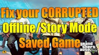 FIX your Corrupted Offline/Story Mode Game | Grand Theft Auto V
