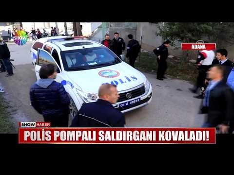 Polis pompalı saldırganı kovaladı!