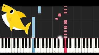 Baby Shark Song By Pinkfong (Easy Piano Tutorial)