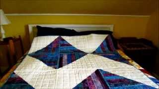 The Blue, Jelly Roll Quilt Is Done!
