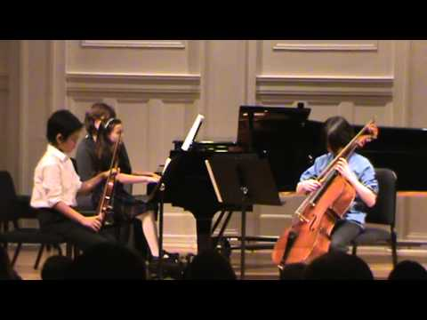 The Fusion Trio plays Piano Trio No. 1 in D minor, Op. 49 2nd movement