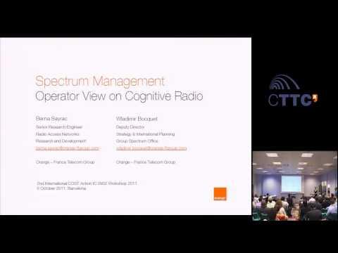 Spectrum Management - Operator View on Cognitive Radio