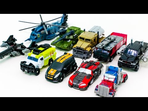 Transformers Movie Cyberverse Mini Optimus Prime MegaTron Truck 10 Vehicles Robot Car Toys