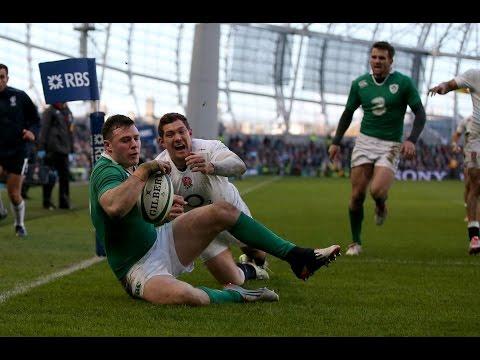 Super Robbie Henshaw Try, Ireland v England, 1st March 2015