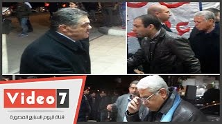 بالفيديو.. الفقى والسيد البدوى وحسن حمدى يشاركون فى عزاء عصام إسماعيل فهمى