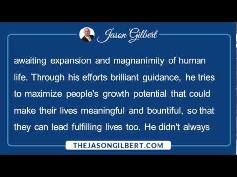 Jason Gilbert Philanthropist - Jason Gilbert is a True Philanthropist