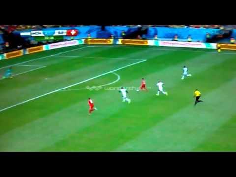 Hat-trick of Xherdan Shaqiri against Honduras at World Cup Brazil 2014