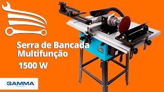 Serra de Bancada Multifunção 1500W G690BR GAMMA - Loja do Mecânico