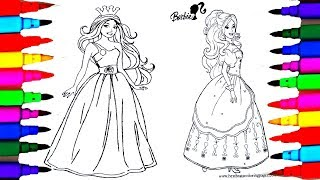 Learn Colors by Drawing Pages Coloring Barbie Princess Coloring Pages l Disney Barbie 2