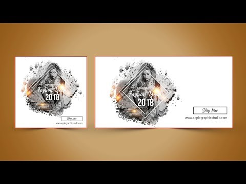 Facebook Ads Banner Design for Fashion - Photoshop Tutorial