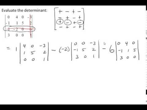 Evaluate the Determinant of a 4x4 Matrix   VIDEOS68.COM