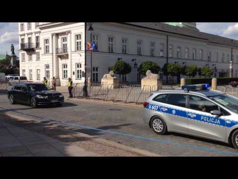 Closed streets during NATO summit in Warsaw (July 8th, 2016)
