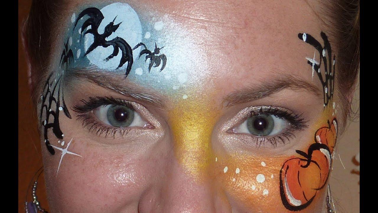 Easy Pumpkin Cheek Art Face Paint How To
