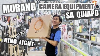 MURANG Camera Equipment sa QUIAPO! + New Ring Light